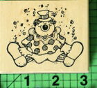 Jimbo the Clown rubber stamp by Hooks Lines  Inkers 1993