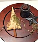 Primitive Tea Stained Christmas Tree Ornies / Bowl Fillers w/ Tag Sweet Annie