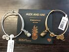 BNWT AUTHENTIC ALEX AND ANI PINEAPPLE III SILVER GOLD