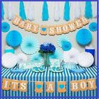 Premium Baby Shower Decorations For Boy Kit ItS A W Striped Tablecloth 2 Banner