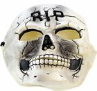 Rubber Skeleton Halloween Mask Youth Size RIP Scary Rotted Costume Theater