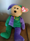 Ty beanie baby April Fool Jester bear New with tags