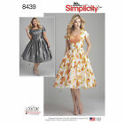 Simplicity 8439 Sewing Pattern Dress Bodice Variations Misses 10-18 Plus 20w-28w