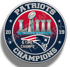 New England Patriots Super Bowl 53 2019 Champions Sticker Decal NFL Football