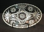 Anchor Hocking Early American Prescut Star of David Clear Oval Bowl EAPC HTF