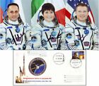 Pictures 3 Space Soyuz TMA 15M and FDC 100 original Autographs Crew Members