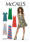 M7592 Mccalls Sewing Pattern Misses 4-26 Easy Very Loose Fitting Pullover Dress