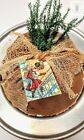 Holiday Christmas Wish Scent Primitive Pantry Cake Bowl Filler Cupboard Tuck
