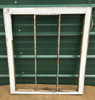 Wood Frame Window 3 Narrow Pane 28 x 32 vintage wooden sash picture