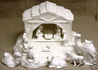 Ceramic Bisque Nativity Scene and Base Scioto Mold 403a d U Paint Ready To Paint