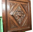 GOTHIC MEDIEVAL ROSACE PANEL Antique french carved wood architectural salvage