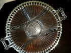 Vtg.Crystal Glass press mould Glass dry fruit chocolate Occasion offering plate