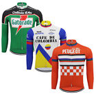 Popular Retro cycling Jersey Pro Clothing Long Sleeve Mens Womens MTB
