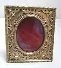 Victorian Picture Frame Brass Stand Up Easel Table Top Repousse Square
