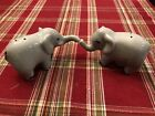 Hugging Lovable Elephants Salt  Pepper Shakers Dumbo Elephant New