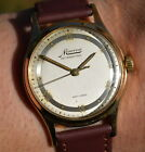 Vintage MINERVA Chronometer, Bifora Cal.120, Gold plated, 60's men's wristwatch