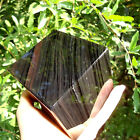 80 x 80 mm BLACK MULTI OBSIDIAN CUBE MIRROR STAND STONE VOLCANIC CRYSTAL GLASS