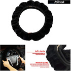 Premium Stretch On Black Soft Cloth Steering Wheel Cover for Auto-Car-Truck 38cm
