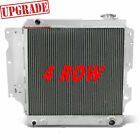 4 Rows Aluminum Radiator for 1987 2004 03 Jeep Wrangler YJ GM Chevy Engine PC