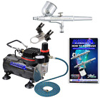 Master Airbrush Multi purpose Gravity Feed Dual action Airbrush Kit with 6 Foot