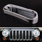 Car Front Hood Grill Grille Insert Guard Cover Trim For Jeep Wrangler JK 07 16