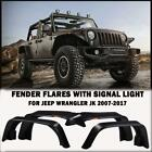 Car Front  Rear Fender Flares with Turn Signal Lamp for 07 17 Jeep Wrangler JK