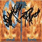 Morbid Angel - Heretic 2CD Signed by Trey Azagthoth + Pete Sandoval RARE Death