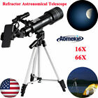 400x70mm Refractor Astronomical Telescope With Tripod Phone Adapter for Beginner