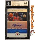 2005-06 Michael Jordan Upper Deck Reflections Signatures Blue Auto 15 BGS 9.5