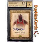 2007-08 Michael Jordan Upper Deck Artifacts Exclusives Auto 5 BGS 9.5 10