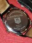 Tag heuer carrera twin time wv2115 on leather strap