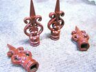 FOUR cast iron finials Powder coated Architectural Rust finish