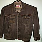 Vintage Fubu Jean Jacket Black Denim XXXL GREAT DEAL Jay Z Tupac Hip Hop 0092005