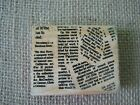 Newspaper background by Rubber Stampede Wood Mounted Stamp
