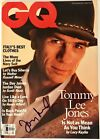 Tommy Lee Jones signed gq magazine men in black beckett coa