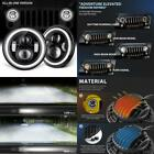 Goodrun Jeep Wrangler Headlights 7 Led Halo Angel Eyes Amber Turn Signals Whit