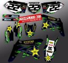2000-2018 KX 65 GRAPHICS KIT KAWASAKI KX65 MOTOCROSS rockstar: blue green decals