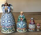 Jim Shore Set of 4 Nativity Nesting Boxes AngelJosephMaryJesus 4024367 New