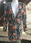 PLANET BLUE BLU MOON TUXEDO FLORAL DRESS SIZE M (W/Tags)