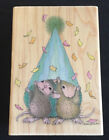 Surprise Party NEW STAMPABILITIES HOUSE MOUSE wood mounted rubber stamp 2007