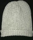 womens GRAY SILVER SPARKLE KNIT WINTER HAT one size fits most SUPER CONDITION NI