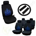 For 2002 2003 2004 2005 2006 Honda Civic Cr-v Accord Car Seat Cover Black Blue