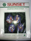 Nativity Ornaments Set of 4 by Sunset Counted Cross Stitch  2912 Christmas NEW