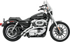 Bassani XL FF12 Radial Sweepers Exhaust System Chrome 1986 03 Harley Sportster