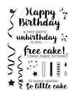Hero Arts Greetings CHEEKY BIRTHDAY Poly Clear Photopolymer Stamps 2019