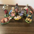 Vintage Italy Nativity Figurines Italian Figure Set of 8 Jesus Shepherd