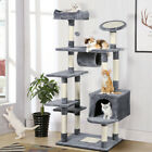 62 Large Cat Tree Tower Condo Furniture Scratch Post Kitty Pet House Play Gray