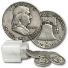 Franklin Halves 90 Silver 20 Coin Roll 10 Average Circulated Mixed Full Dates