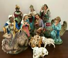 Estate HUGE Italy Nativity 11 Hand Painted Paper Mache Figures FONTANINI