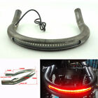 Cafe Racer Seat Frame Hoop Loop w/ LED Brake Turn Tail Light For Honda CB Yamaha